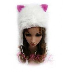 Bonnet oreille de chat blanc