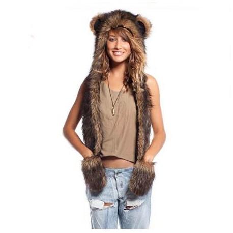 Bonnet grizzly fourrure