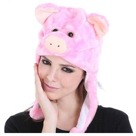 Bonnet cochon rose