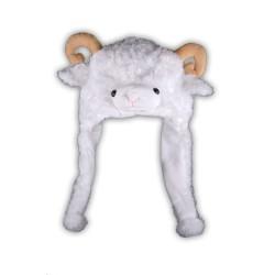 Bonnet mouton (Beige / Blanc / Rose)