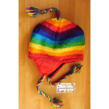 Bonnet péruvien multicolor