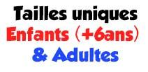 taille unique enfants adultes