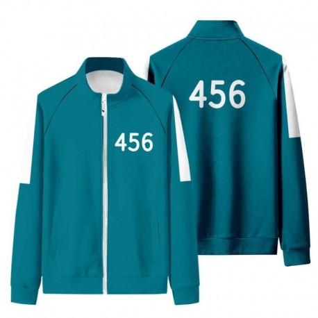 Pull et sweat Squid Game vert : veste n°456, 001, 067