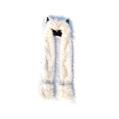 Bonnet Fashion Loup Blanc