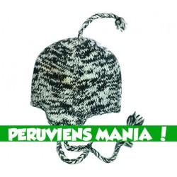 Bonnet péruvien méli-mélo (gris & noir)