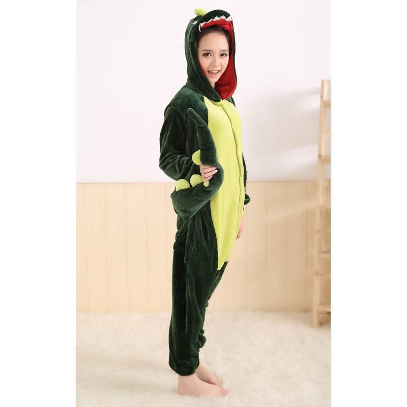 taille 40 3b6d6 35e06 Pyjama de dragon (vert) pour Adulte et Enfant : Combinaison ...