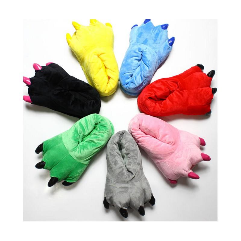 chaussures de sport f1ce8 d9609 Chaussons animaux Bleus   Chaussons rigolos