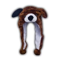 Bonnet chien marron