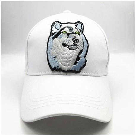 Casquette loup blanc