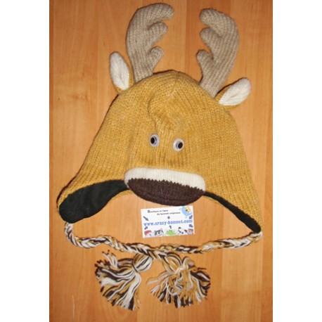 Bonnet cerf en tricot