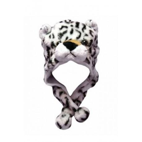 Bonnet léopard blanc