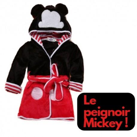 Acheter Robe De Chambre Polaire Mickey A Capuche Peignoir Mickey Bebe Pas Cher Enfant Garçon Fille