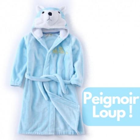 Acheter Peignoir Capuche Animaux Robe De Chambre Loup Peignoir Loup Pas Cher Bebe Enfant Garcon Fille