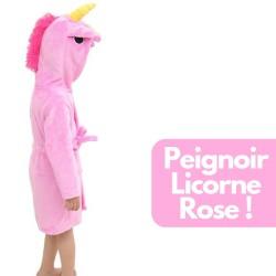 Peignoir Licorne Rose