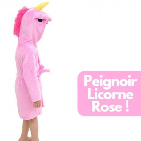 Acheter Peignoir Robe de Chambre Licorne Fille | peignoir licorne Rose pas cher : Bébé & Enfant : Petite Fille
