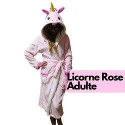 Peignoir Licorne Adulte