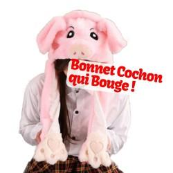 Bonnet Cochon Rose qui Bouge