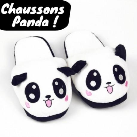 7aec886ce9ea7 Acheter chausson animaux panda Mignon en Peluche | chaussons panda ...