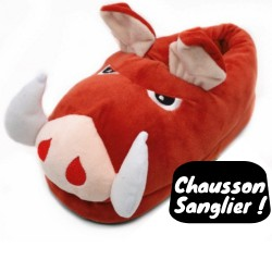 Chausson Peluche Sanglier