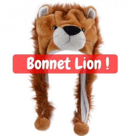 Bonnet lion avec crinière