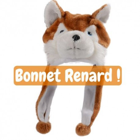 Bonnet peluche renard