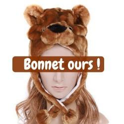 Bonnet ours Brun
