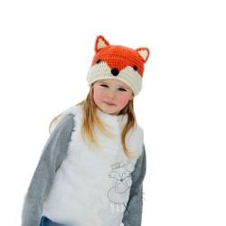 Bonnet renard en tricot