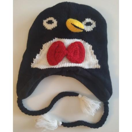 Bonnet pingouin tricot