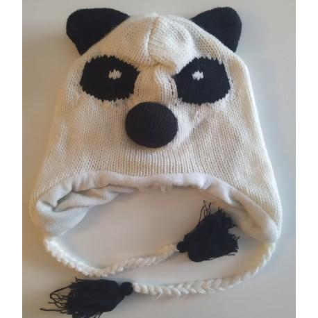 Bonnet panda tricot
