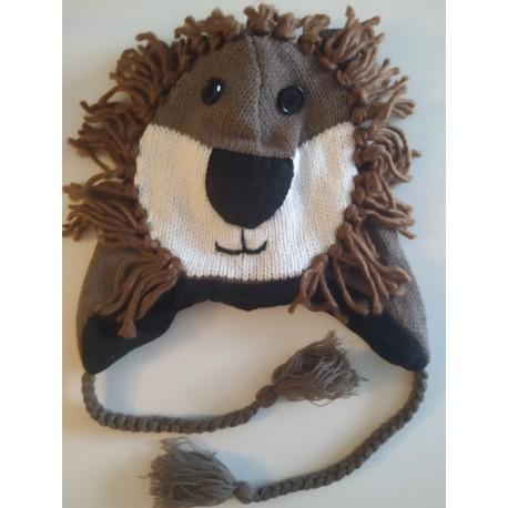 Bonnet Lion en tricot