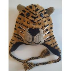 Bonnet tigre en tricot