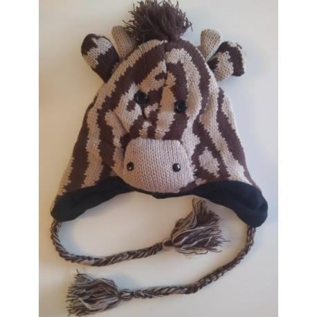 Bonnet girafe tricot