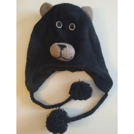 Bonnet ours tricot